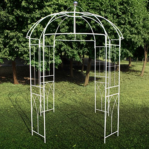 outour gazebo ad arco quadrilaterale in metallo a forma