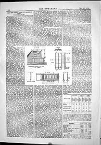 Construction des Bases 1874 de Caissons de l'Allier Vichy de Pont en Fonte