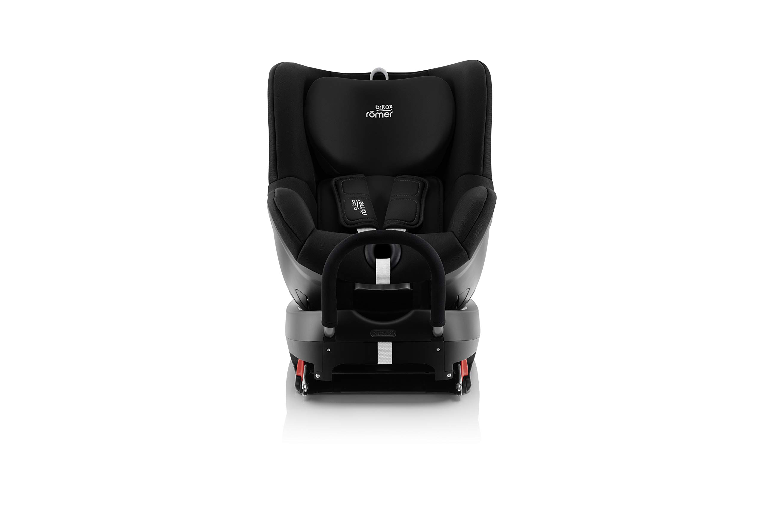 Britax Römer DUALFIX² R Group 0+1 (Birth-18 kg) Car Seat, Cosmos Black Britax Römer Intuitive 360° rotation for rearward and forward facing usage Easy entry with 90 degree rotation to the open door for easy placement of the child Extended rearward facing travel with more leg space thanks to shorter rebound bar 2