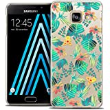 Caseink - Coque Housse Etui Samsung Galaxy A3 2016 (A310) [Crystal HD Collection Spring Design Tropical - Rigide - Ultra Fin - Imprimé en France]