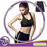Hula Hoop Volwassenen Fitness, THOWALL 92cm 8-Delige Hula Hoepels voor Training Fitness Gewichtsverlies, Afneembaar, Opvouwba