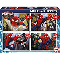 Educa-Borrás 15642 - Spiderman Ultimate 4 puzzles progresivos: 50-80-100-150 piezas