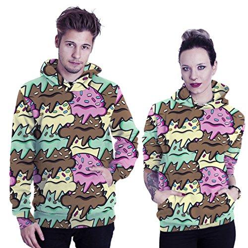 Belsen unisex Kapuzenpullover Sweatshirts Liebhaber Valentine Set Multicolor ice cream