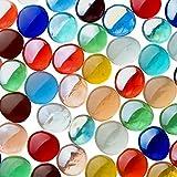 Fliesenhandel Fundus Glasnuggets 500g Premium Muggelsteine Bunt Mix 17-21mm ca. 100 Stück