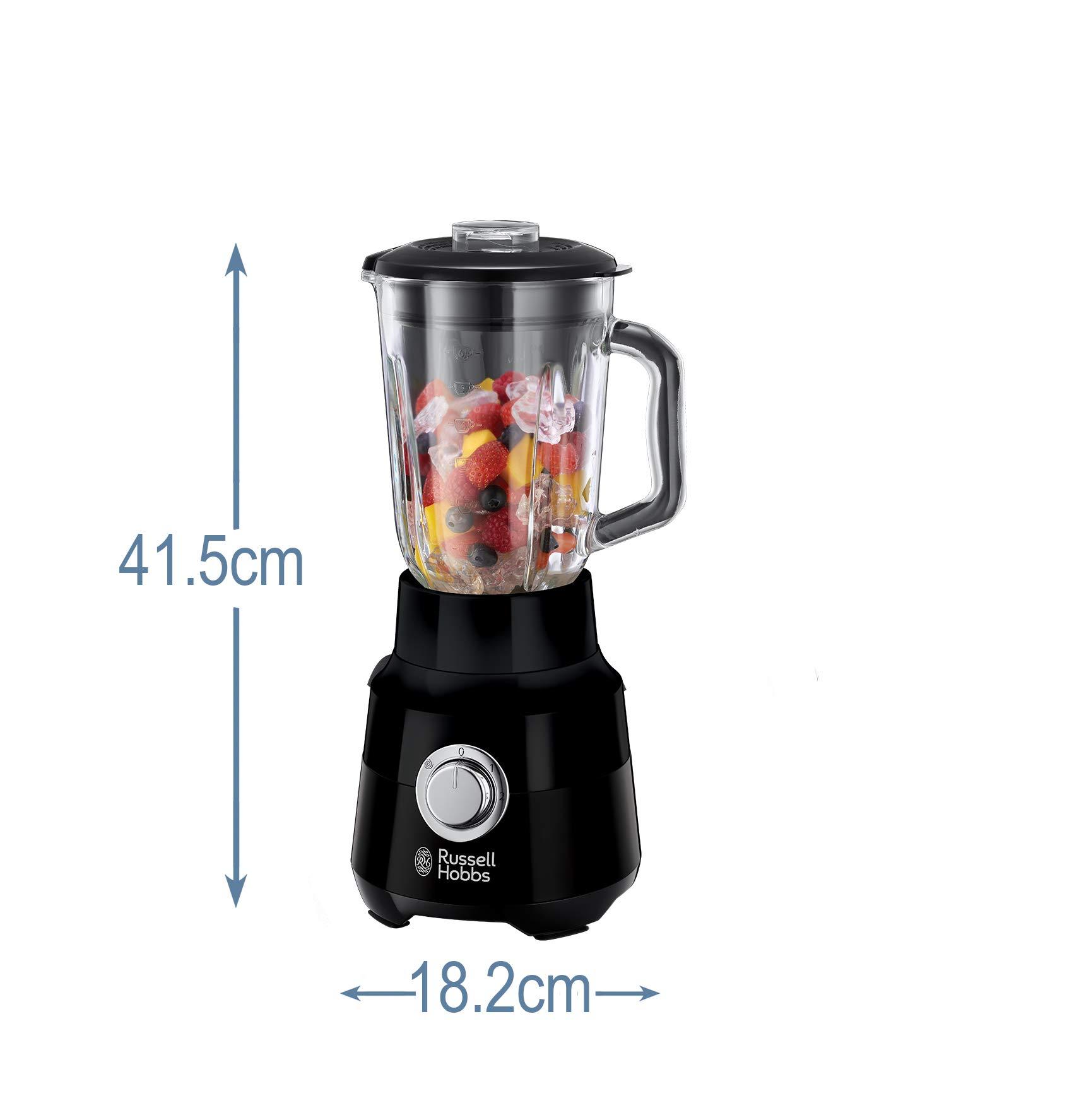 Russell Hobbs 24722 Desire Jug Blender, 1.5 Litre Smoothie Maker and Soup Liquidiser, Matte Black, 650 W