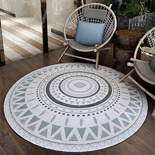 Home Store Runder Teppich - Computer Stuhl Teppich, rutschfest, Schlafzimmer Wohnzimmer Hängesessel ( Farbe : 1# , größe : 90cm )