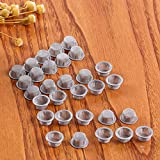Coral Lassie 30pcs Crystal Pipe Screen, 1/2 inch Diameter Stainless Steel Mental Filter for Crystal Smoking Pipes