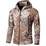YuanDian Uomo Tattico Camouflage Softshell Giacca Autunno Inverno Outdoor Militare Pile Fodera Impermeabile Antivento Giubbot