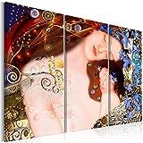murando - Bilder Gustav Klimt 90x60 cm - Leinwandbilder - Fertig Aufgespannt - Vlies Leinwand - 3 Teilig Wandbilder XXL - Kunstdrucke - Wandbild - Mutter und Kind l-A-0016-b-e