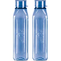 Milton Prime 1000 Pet Water Bottle, Set of 2, 1 Litre Each, Blue | BPA Free | 100% Leak Proof | Office Bottle | Gym…