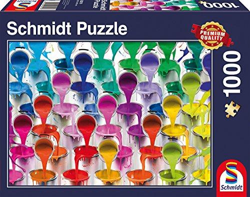 Schmidt Juegos de rompecabezas para adultos: Cascada de pintura tarros, 1000 piezas