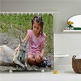 Shower Curtain Schöne Cute Fox und Känguru Dusche Curtain-Bathroom Zubehör Badezimmer Set 72x 72 Multi 50