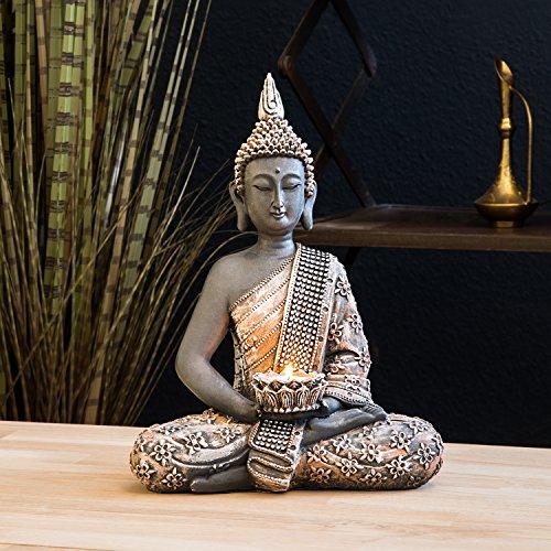 Figura de Buda decorativos con palmatoria - Altura 31cm 3a35f8c08ac