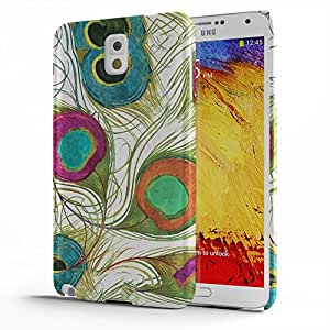 Koveru Designer Printed Protective Snap-On Durable Plastic Back Shell Case Cover for Samsung Galaxy Note 3 - Peacock Feather