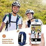 Mpow Fitness Armband mit Pulsmesser,Wasserdicht IP67 Smartwatch Fitness Uhr Pulsuhren Fitness Tracker Aktivitätstracker Schrittzähler Uhr für Damen Herren Anruf SMS Beachten für iPhone Android Handy - 7