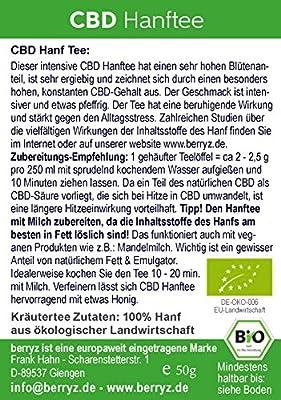 Hanftee BIO DE-ÖKO-070 + hoher CBD Gehalt + versandkostenfrei ab 17€ von berryz auf Gewürze Shop