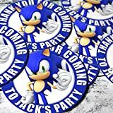 Sonic The Hedgehog 24x4.5cm PRE-CUT Party Bag Sticker Labels Personalised with HIGH RESOLUTION IMAGE
