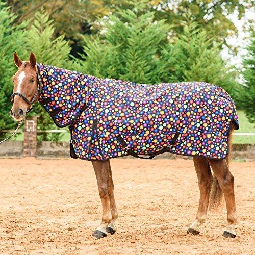 """Best on Horse Pferdedecke für Pferde, wasserfest, Keine Füllung, für den Sommer, Schwarz, UK 5\'0 / EU 105cm / 60\"""""""