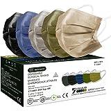 MEDI SANTÉ 50 Masque Chirurgical médical Masque de Protection Masque jetable Couleur Type 2R EN14683 BFE≥98% 3 Plis (Multicol