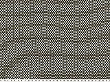 ab 1m: Pepita-Strick, natur-schwarz, 145cm breit