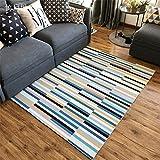 CHAI Wohnzimmer Decor Teppich Bodenmatte Europäischen Einfachen Stil 3D Printing & Färben Farbe Streifen Rechteckigen Teppich Kinder Teppiche Schlafzimmer Rutschfeste Teppich Teppich Teppiche