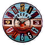 Soledi cerveza tapa reloj de pared Vintage Europea retro reloj decorativa 3d