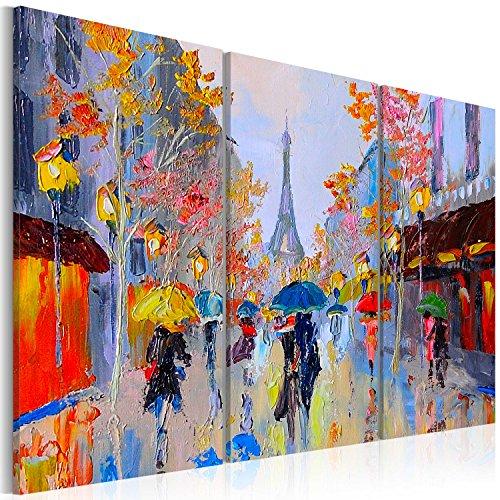 murando - Cuadro en Lienzo 120x80 - Impresión de 3 Piezas Material Tejido no Tejido Impresión Artística Imagen Gráfica Decoracion de Pared Paris City Torre Eiffel d-B-0064-b-e
