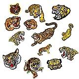 13Teile sortiert Tiger bestickt Safri Animal Patches Aufnäher auf Aufnäher Badge