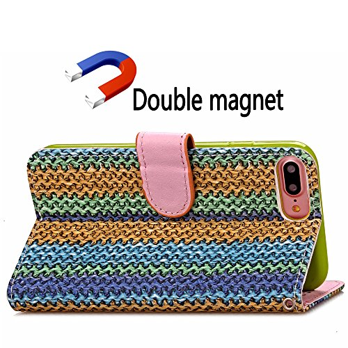 Coque Etui pour iPhone 7 Plus,iPhone 7 Plus PU Leather Case Wallet Cover Flip Coque,iPhone 7 Plus Portefeuille Cuir Coque Housse,EMAXELERS iPhone 7 Plus Coque Cuir,iPhone 7 Plus Coque Flip,iPhone 7 Pl G G Floral Wood 3