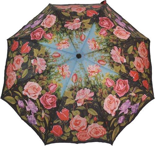 Artbrollie - Regenschirm Taschenschirm Damen - Rosengarten