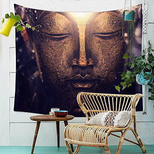 Boho Psychedelic Yoga Estatua Wall Hanging Floral pared Alfombra para pícnic cortina...