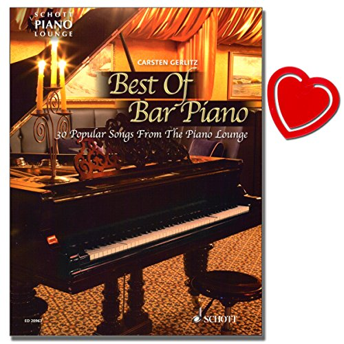 Best Of Bar Piano - Songbook für Klavier von Carsten Gerlitz - 30 populäre Songs aus der Piano Lounge mit bunter herzförmiger Notenklammer