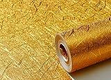 SQBZ Goldenes Wohnzimmer goldene Wandtapete KTV Bar Nachtclub Wohnzimmer TV Hintergrund Decke Decke Tapete Mail, Golden, Tapete nur