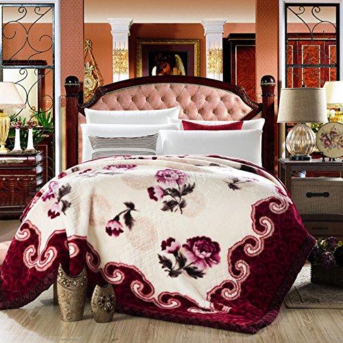 BDUK Winter DOPPEL raschelmaschinen Decke 9 Catties Holz Baumwolle warme Decke Einzel Doppel Decken
