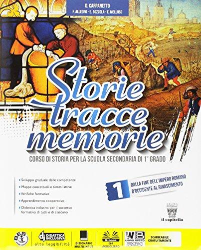 Storie tracce memorie. Per la Scuola media. Con DVD-ROM. Con e-book. Con espansione online: 1
