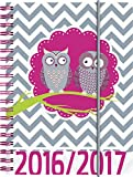 Brunnen 107297217 Schülerkalender/Schüler-Tagebuch (1 Seite = 1 Tag, 12x16cm (A6), PP-Einband Eule, Kalendarium 2016/2017)