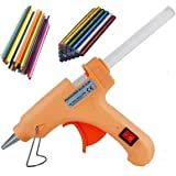 Penggong 20W 20 WATT 7MM hot melt Glue Gun with ON Off Switch and LED Indicator 5 Transparent + 5 Colored + 5 Glitter…