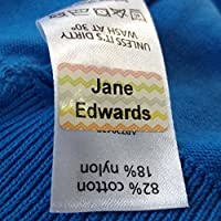 Funky Colour Just Stick Name Tags/Labels for Kids - No Sew or Iron for School