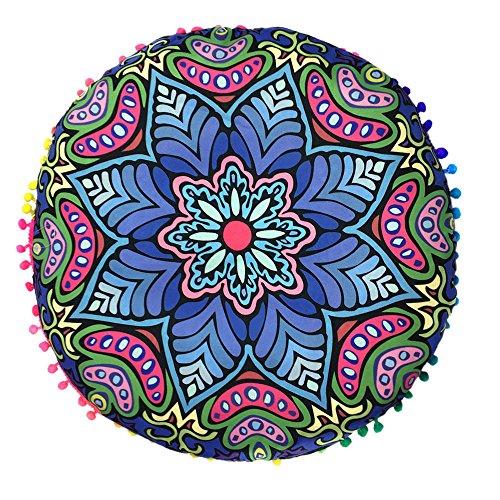 Federe,WINWINTOM Copertura Indiana Mandala Floor Cuscini Rotonda
