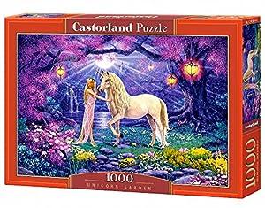 CASTORLAND Unicorn Garden 1000 pcs Puzzle - Rompecabezas (Puzzle Rompecabezas, Hada, Niños y Adultos, Niño/niña, 9 año(s), Interior)