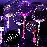 Bloomma Palloncini, 10PCS LED si accendono Palloncino BoBo,palloncini trasparenti pieghevoli da 24 pollici,ottimo per Natale,matrimonio,Halloween,festa di compleanno,decorazioni per la casa