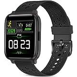 Smartwatch, smartwatch heren met vrij te kiezen achtergrondafbeelding,fitnesstracker horloges met hartslagmeters, 16 soorten