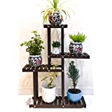 Dime Store Wooden Plant Stand for Balcony Living Room Indoor Outdoor Plant Stand Foldable Display Rack Storage Rack for Patio