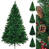 Christbaum künstlicher Weihnachtsbaum Tannenbaum TREEDITION in verschiedenen Größen und Farben inkl. Standfuß künstliche Tanne mit Klappsystem, Höhe:180 cm (1.030 Spitzen), Farbe:Mittelgrün