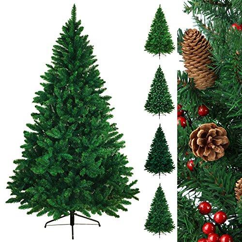 Árbol navideño árbol de Navidad artificial abeto WONDERLAND en 5 tamaños y 3 colores de BB Sport, Color:verde medio;Longitud:180 cm (1.030 puntas)