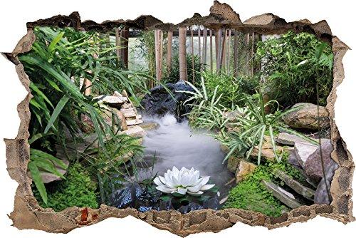 Zen Garten Japan Wanddurchbruch im 3D-Look, Wand- oder Türaufkleber Format: 92x62cm, Wandsticker, Wandtattoo, Wanddekoration