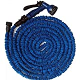 Stretch flexible water hose length up to 45 m blue