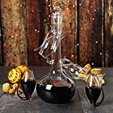 from drinkstuff Port Sipper Set with Four Sippers | bar@drinkstuff Port Glasses, Port Sipper Set, Port Sippers, Port Decanter, Liqueur Decanter | Handmade Glass Port Decanter