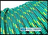 Poly Rope Corda intrecciata in polipropilene, per uso nautico, yacht, barca a vela, colore arancione, 8mm, 5m, Green