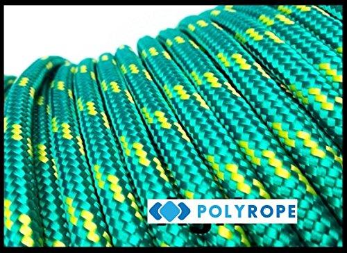 Poly Seil 8mm 5Meter orange, geflochten, Polypropylen-Seil, Yacht, Boot, Segeln, grün -